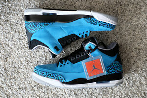 For Sale NIKE AIR JORDAN 3 Powder Blue Sz 10.5