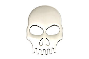 skull emblem for relocating the license plate