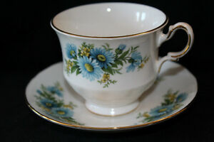 QUEEN ANNE TEA CUPS  & SAUCERS