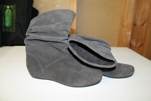 Steve Madden Grey Suede Slouch Boots London Ontario image 3