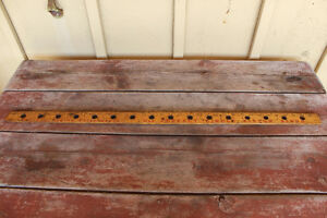 Vintage Wooden Advertising Yard Stick - Piston Rings