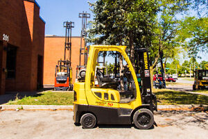 2006 Hyster forklift 5000Lb cap.With Side shift ,3stage Mast