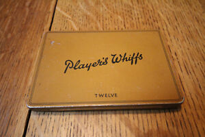 VIINTAGE PLAYERS WHIFFS CIGARETTE TOBACCO TIN