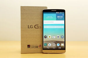 New LG G3 Phone w/3 Batteries, Charger, 4GB SD & More