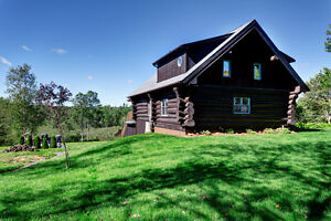 Beautiful Log Home on Private 5 Acre Property