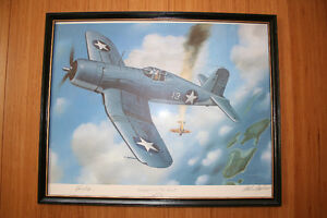 Signed Painting Dogfight over the Russels