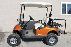 2014 Sierra Orange EZGO RXV Golf Cart ( JAKED )