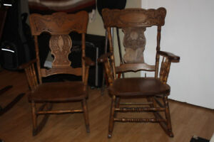 Pair antique rocking chairs