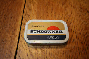 RARE VINTAGE PLAYERS SUNDOWNER FLAKE FULL CIGARETTE TIN