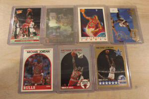 Michael Jordan 7-card Lot - Exact Cards Pictured Included