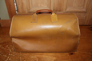 Vintage Leather Doctor/Lawyer's Bag - Great for Display!