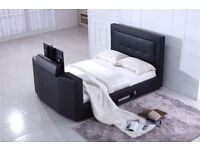 """NEVV LEATHER TV BED HOLDS UP TO 40"""" TV"""