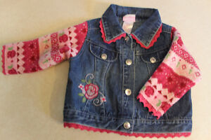 Four - size 12 month Dress coat, Jacket and sweaters.
