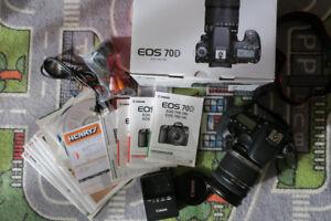 Canon EOS 70D + Lenses 18-200mm + 10-22mm +  580EX Flash