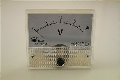 020v Dc 85c1 Analog Volt Voltage Panel Meter Voltmeter Qc