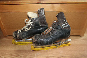 2 pairs of antique CCM skates - $20 for both