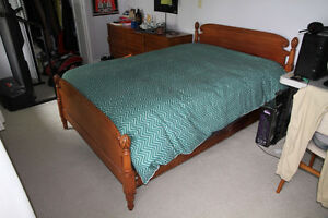 Pine Cone Style Wooden Double Bed