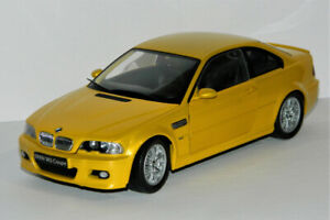 Kyosho 1/18 BMW M3 Coupe E46 Diecast Car Yellow
