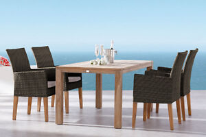 NEW!  Outdoor Wicker Dining and Patio Furniture with SUNBRELLA Comox / Courtenay / Cumberland Comox Valley Area image 6