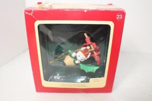 LUSTRE FAME 1992 Holiday Mouse Merry Christmas Teacher Ornament Pencil Sail Boat