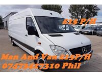 Cheap Man And Van £15 p/h Transport/Deliveries/Courier/Bike Recovery/House-Office Movers 07473427310