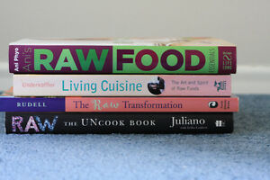 Raw Food Healthy Nutritious Eating Cookbooks $25 for all 4 - fir