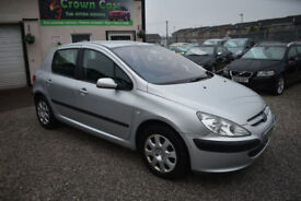Peugeot 307 1.4HDi 5 DOOR SILVER 2003 MODEL +CHEAP TAX AND GREAT ON FUEL+