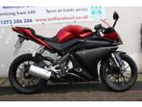 2014 YAMAHA YZF R125CC RED £2695 RIDE AWAY TODAY!