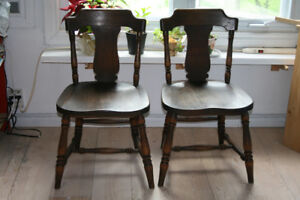 Vintage Solid Oak Breakfast Chairs