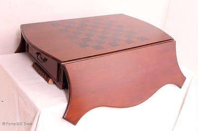 Schöner Schachtisch Schachbrett Spieltisch Schubladen Klapptisch Mahagoni Massiv