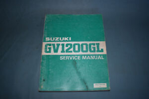 Suzuki GV1200GL Service Shop Repair Manual Factory