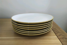 Yellow Dinner Plates x7