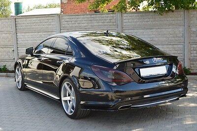 Diffusor Ansatz für Mercedes CLS W218 Heckansatz Heck DTM FLap Splitter AMG