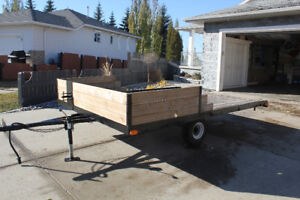 TRAILER 8'X12' SINGLE AXLE UTILITY TRAILER