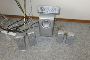 5 Disc Panasonic DVD Home Theater Sound System for sale.