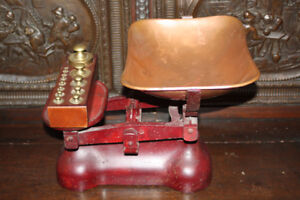 Set of Antique Scales with weights.