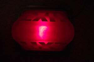 Vintage Kopp Industrial Illuminated Red Glass Exit Sign Light London Ontario image 8