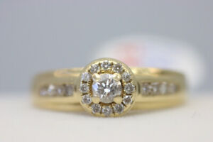 Gorgeous Appraised 14K Yellow Gold Diamond Ring Size 7.5 (#1281)