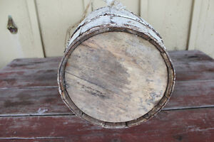 Old Wooden Nail Keg Painted White - Great for Christmas Decor London Ontario image 5