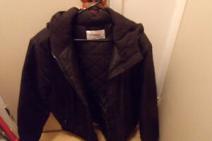 Women's Black winter jacket with hood
