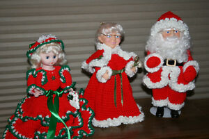 Vintage Crocheted Christmas Dolls-NEW PRICE