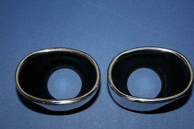 PORSCHE 993 C2 / C4 LONG EXHAUST TAIL PIPE TIPS POLISHED STAINLESS STEEL NEW