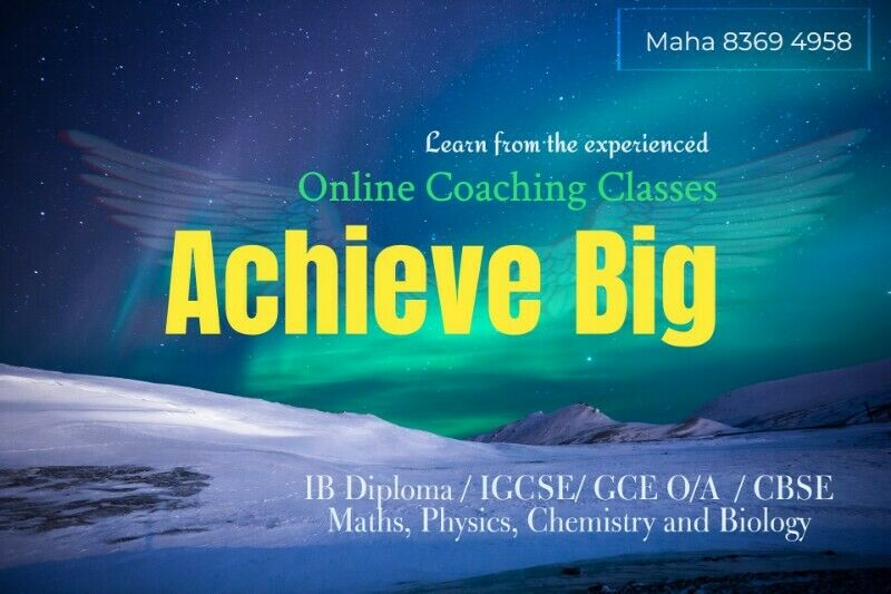 CBSE- IGCSE- IB-JC~Secondary Maths & Science customized tuition classes to suit your needs!