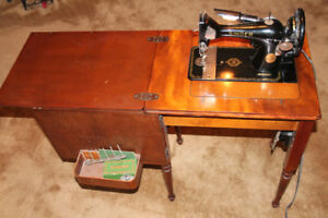 Vintage (1950's) Electric Singer Sewing Machine and Cabinet
