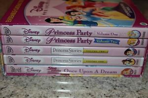 Disness Princess DVD Set of 5