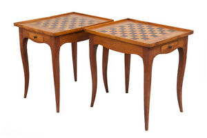 Matching Pair of Game Tables, Mid Century, French