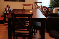 8 piece Pub-Height Dining Table Set