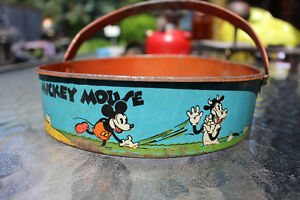 1930'S WALT DISNEY ENTERPRISES PIE EYED MICKEY SAND TOY SIFTER