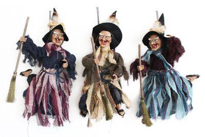Hexe-Bewegung-Sound-Faschingsdekoration-Hexenfiguren-Hexen-Deko-Halloween-Figur
