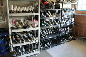 Lots of ice skates. Priced Better than Play it Again Sports